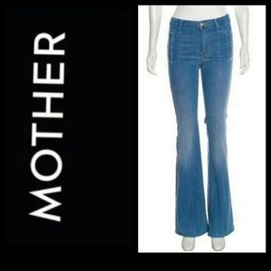 Mother Drama Wide Leg Jeans Dark Wash Size 26